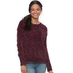 Juniors' Mudd® Chenille Sweater