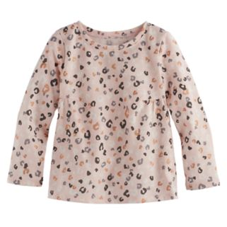 Toddler Girl Jumping Beans® Print Shirred Tee