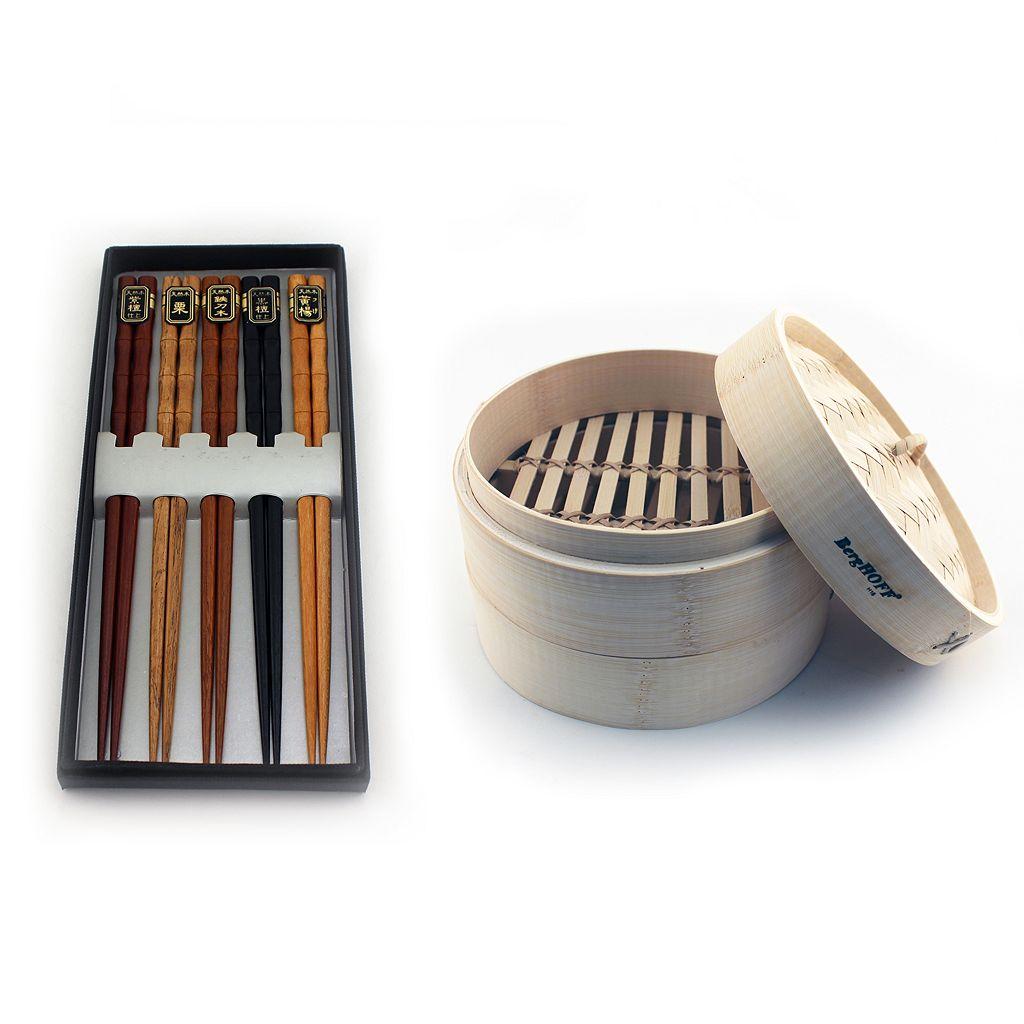 BergHOFF Bamboo 11-pc. Steamer & Chopsticks Set