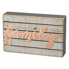 Farmhouse Family Box Sign Art Wall Decor