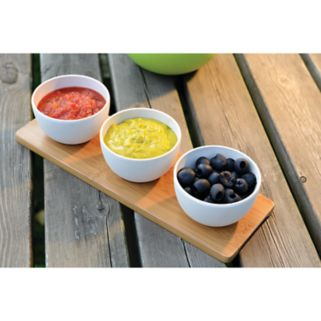 BergHOFF Cook & Co.  Snack Bowl with Bamboo Tray