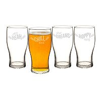 Cathy's Concepts 4-pc. Beer Pun Pilsner Glass Set
