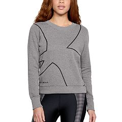 Women's Under Armour Favorite Fleece Crew Graphic Top