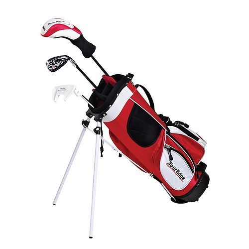 Boys Age 3-5 Tour Edge HT Max-J Junior Left Hand 2x1 Golf Club & Stand Bag Set