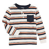 Toddler Boy OshKosh B'gosh® Striped Slubbed Henley Tee