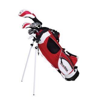 Boys Age 5-8 Tour Edge HT Max-J Junior Left Hand 4x1 Golf Club & Bag Set