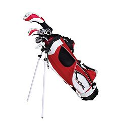 Boys Age 9-12 Tour Edge HT Max-J Junior Left Hand 4x1 Golf Club & Bag Set