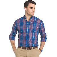 Men's IZOD Advantage Sportflex Plaid Regular-Fit Stretch Button-Down Shirt