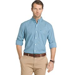 Men's IZOD Advantage Sportflex Striped Regular-Fit Stretch Button-Down Shirt