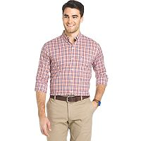 Men's IZOD Advantage Sportflex Plaid Regular-Fit Stretch Button-Down Shirt