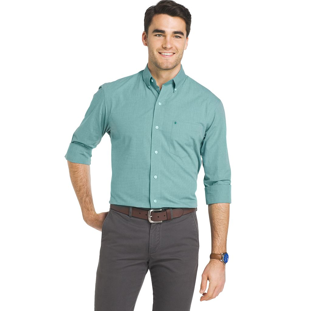 Men's IZOD Essential Regular-Fit Button-Down Shirt