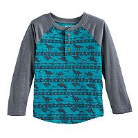 Toddler Boy Jumping Beans® Dinosaur Patterned Raglan Henley