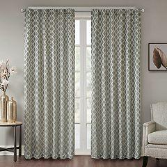 Madison Park 1-Panel Erika Jacquard Window Curtain