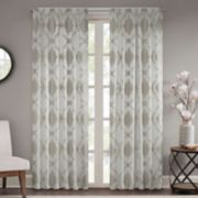 Madison Park 1-Panel Capella Clip Window Curtain