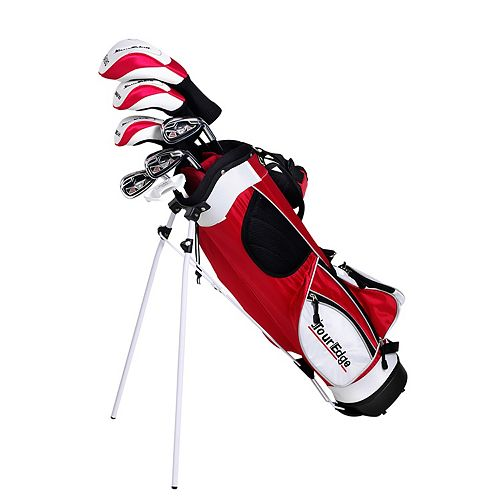 Boys Age 9-12 Tour Edge HT Max-J Junior Left Hand 5x2 Golf Club & Bag Set