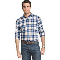 Men's IZOD Saltwater Regular-Fit Plaid Performance Button-Down Shirt