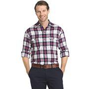 Men's IZOD Saltwater Regular-Fit Plaid Performance Button-Down Shirt