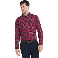 Men's IZOD Regular-Fit Plaid Flannel Easy-Care Button-Down Shirt