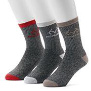 Men's Realtree 3-pack Terry Crew Outdoor Socks