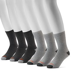 Men's Realtree 6-pack Cushioned Crew Outdoor Socks