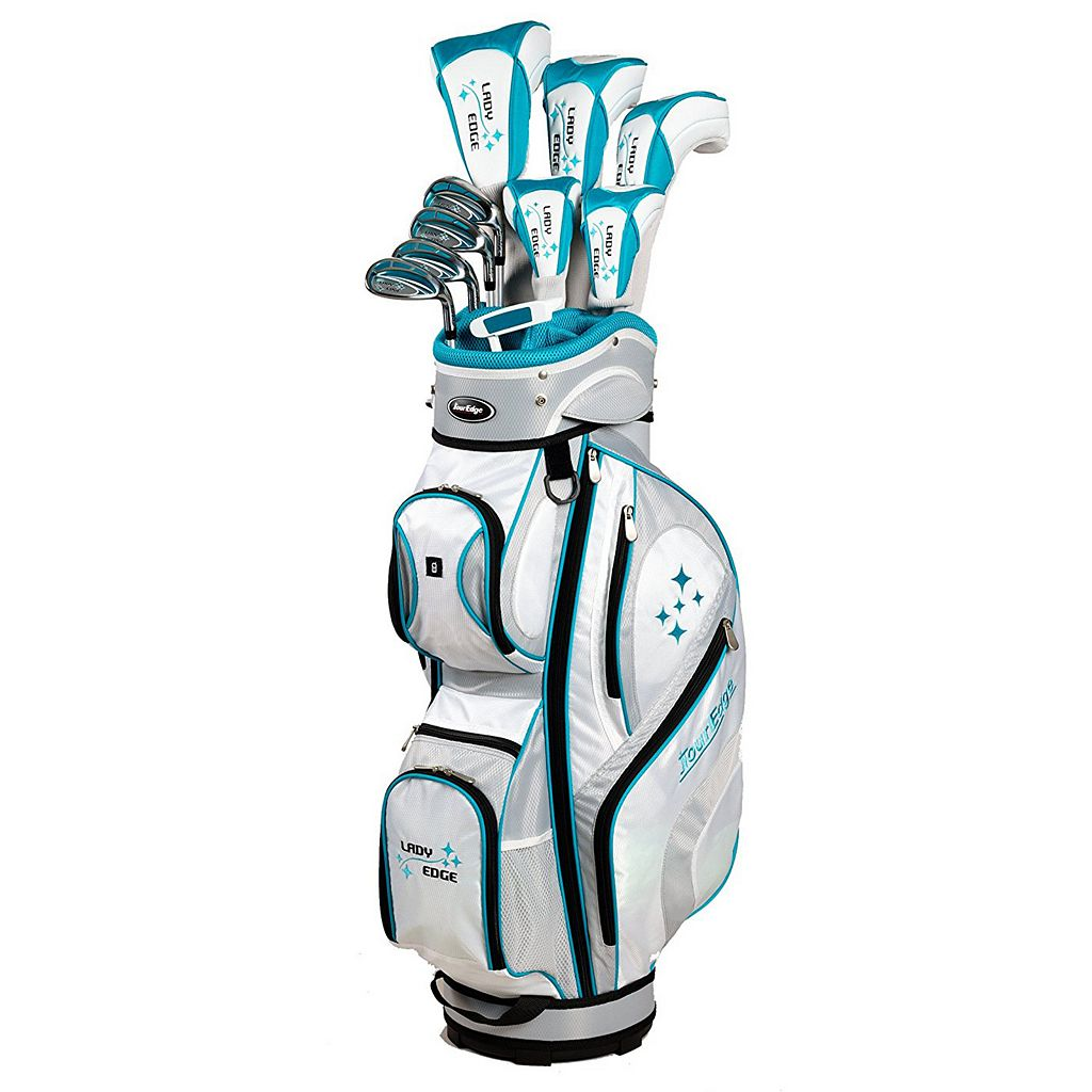 Women's Tall Tour Edge Lady Edge Right Hand Complete Golf Club & Bag Set