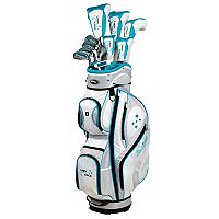 Women's Tour Edge Lady Edge Left Hand Box Golf Club & Cart Bag Set