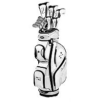 Women's Petite Tour Edge Lady Edge Right Hand Complete Golf Club & Cart Bag Set