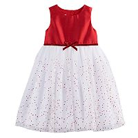 Toddler Girl Marmellata Classics Glitter Dot Tulle Dress