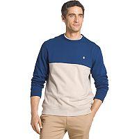 Men's IZOD Advantage Sportflex Regular-Fit Colorblock Performance Fleece Pullover