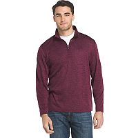 Men's IZOD Advantage Sportflex Regular-Fit Marled Performance Quarter-Zip Pullover