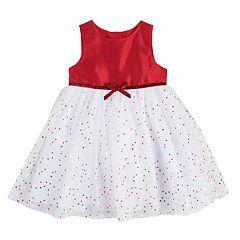 Baby Girl Marmellata Classics Glitter Tulle Dress