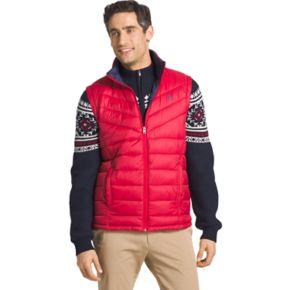 Men's IZOD Advantage Sportflex Regular-Fit Colorblock Performance Fleece Vest