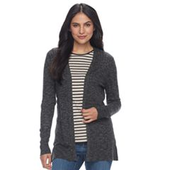 Women's Croft & Barrow® Ribbed Open-Front Cardigan