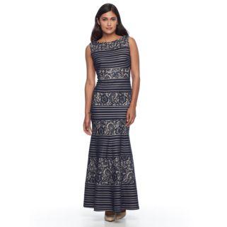 Petite Chaya Lace Striped Maxi Dress