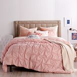 Peri Check Smocked Comforter Set