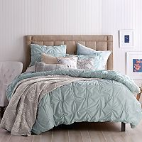 Peri Check Smocked Duvet Cover Set