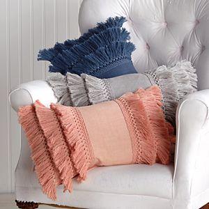 Peri Fringe Throw Pillow