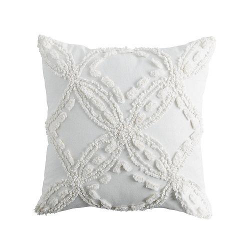 Peri Metallic Chenille Throw Pillow
