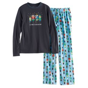 Boys 4-20 Jammies For Your Families Nutcracker Top & Fleece Bottoms Pajama Set