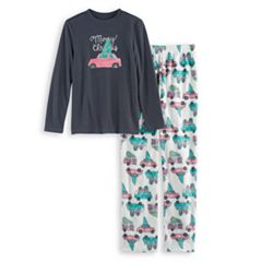 Boys 4-20 Jammies For Your Families Retro Car Top & Fleece Bottoms Pajama Set