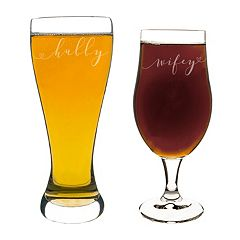 Cathy's Concepts 2 pc Hubby & Wifey Pilsner Set