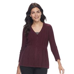 Women's Croft & Barrow® Swing Cardigan