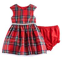 Baby Girl Marmellata Classics Red Plaid Dress