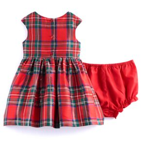Baby Girl Marmellata Classics Red Plaid Dress