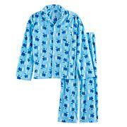 Boys 4-20 Jammies For Your Families Hanukkah Polar Bear Button-Front Top & Bottoms Set