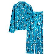 Boys 4-20 Jammies For Your Families Penguin Pattern Button-Front Top & Bottoms Pajama Set