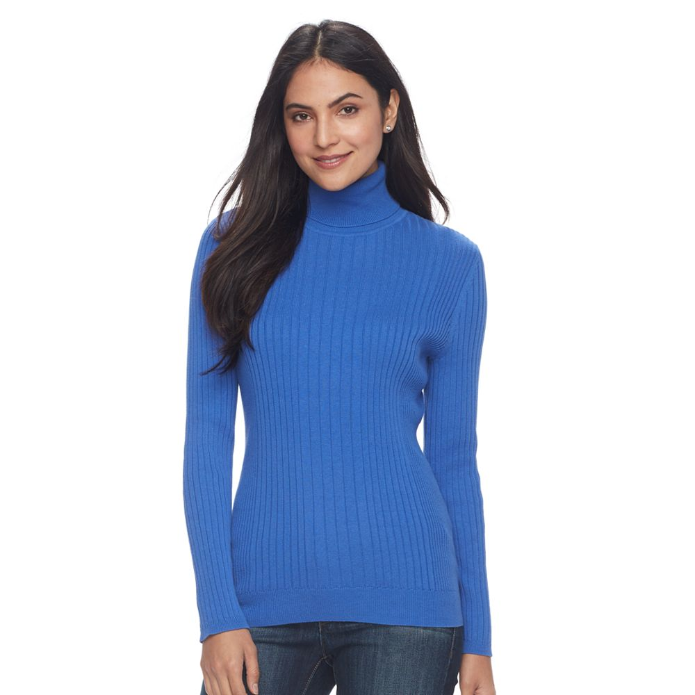 Croft & Barrow® Essential Ribbed Turtleneck Sweater