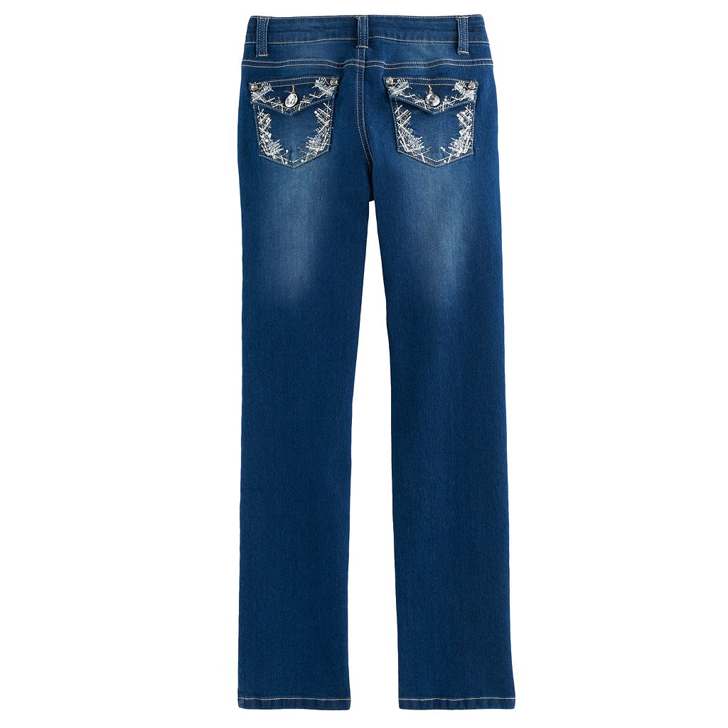 Girls 7-16 Freestyle Revolution Rhinestone Embellished Bootcut Jeans