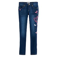 Girls 7-12 Freestyle Revolution Embroidered Leg Skinny Jeans