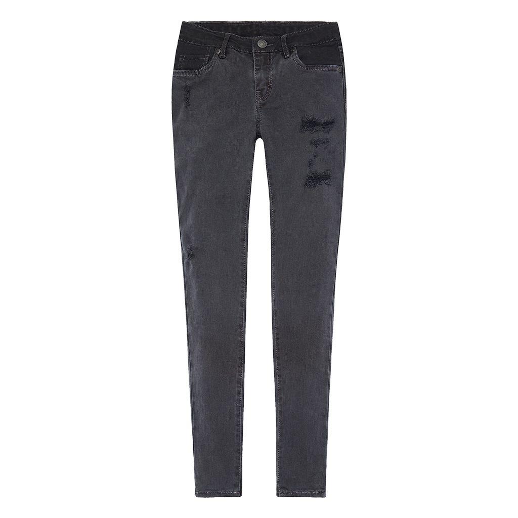 Girls 7-16 Levi's 710 Super Skinny Fit Black Jeans